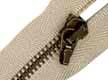 Cremallera metálica con mosquetón blanca 10 cm