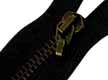 Cremallera negra metálica con mosquéton de 40cm