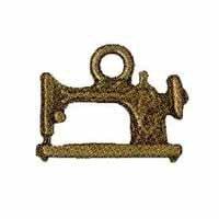Tirador de cremallera metálico de maquina de coser