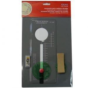 Accesorio para costura circular. para hacer circulos de 3.5 cm a 15.5 cm de radio