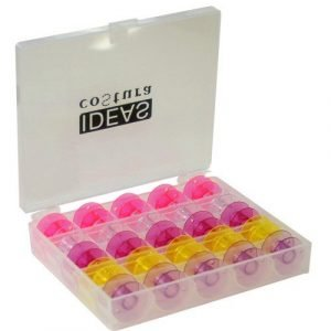 Caja para canillas con canillas de colores