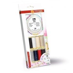 8 bobinas de hilo cosetodo en colores básicos