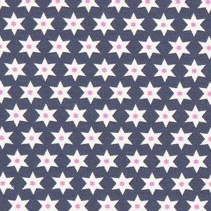 Jersey en rosas y azules zigzag de gütermann