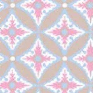 Motivos geométricos en beige y azul de Portofino.