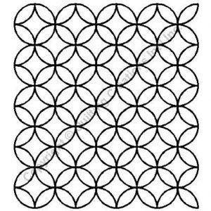 Plantilla de acolchado de círculos enlazados