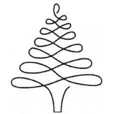 Plantilla de acolchado árbol de navidad