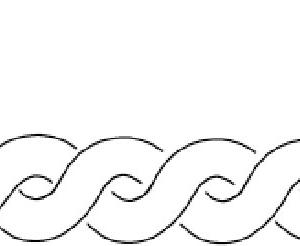 Plantilla de acolchado con borde de ochos