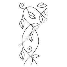 Plantilla de acolchado de borde de hojas y ramas